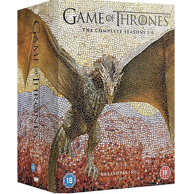 AAA+  Game of Thrones1-6 Season Complete Edition (New Seal 6 Box) DVD