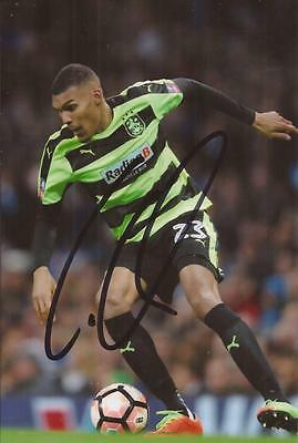 HUDDERSFIELD: COLLIN QUANER SIGNED 6x4 ACTION PHOTO+COA
