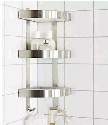 3 Tier Corner Bathroom Shower Caddy Tidy Rack Rust Resistant Grundtal