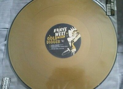 "KanYe West- Gold Digger (Limited Edition European Gold 12"") Hip Hop Roc-a-Fella"