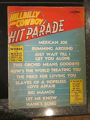 Hillbilly and Cowboy Hit Parade Vol 1 No 3 Fall 1953