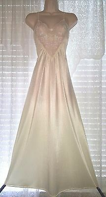 Vtg Tom Bezuda Barad Nightgown Gown Nightie Negligee with Floral Design Lace S M