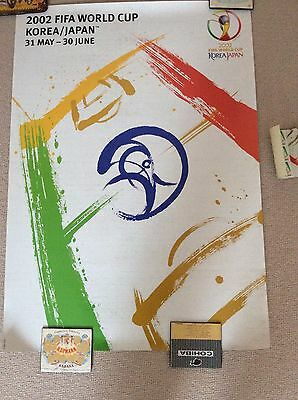 2002 Fifa World Cup South Korea Japan Poster Mint Never Framed Rare Soccer Wc F