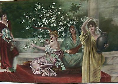 Continental Period Painted Tapestry Circa 1900