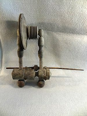 UNUSUAL Antique Wood SPINNING WHEEL PART Minors Wheel ? Spindle