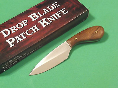 "DROP POINT PATCH KNIFE DH7989 brown wood full tang 4 3/8"" overall PA7989 NEW!"