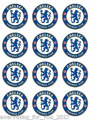 """Chelsea Edible Icing, Cup Cake Toppers 12 x 2"""""""