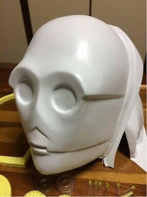 Star Wars C3PO Real size helmet mask Resin ABS kit From Japan