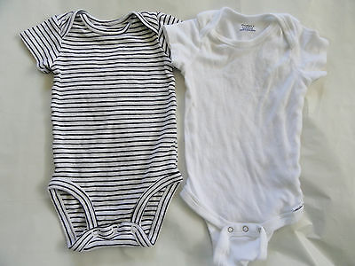 One-Piece Cotton Short Sleeve Outfits Size 3M Carter's & 6-9M Gerber's Lot of 2