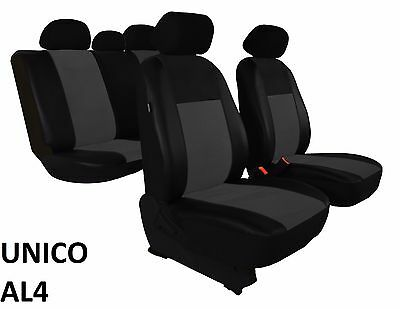 VOLKSWAGEN POLO Mk5 2009-2017 ECO LEATHER ALCANTRA SEAT COVERS MADE TO MEASURE