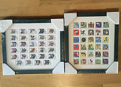 London 2012 Olympics & Paralympics Framed Stamp Sets, Total of 59 Stamps