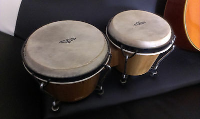 Set of CP bongos - Small percussion drums, with carry bag
