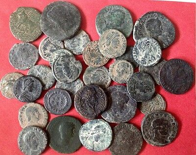 LARGE UNCLEANED ROMAN DESERT COINS 15 to 36mm  EVERY bid is per coin !!