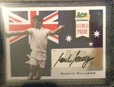 2013 ACE Authentic - Grand Slam Autograph - Martin Mulligan - NP-MM1
