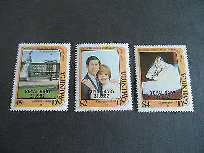 Dominica  1982 Sg 821-823 21St Birthday Of Princess Of Wales  Mnh