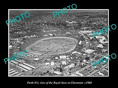 OLD LARGE HISTORIC PHOTO OF PERTH WEST AUSTRALIA, THE ROYAL SHOW CLAREMONT c1960