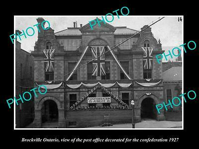 Old Large Historic Photo Of Brockville Ontario Canada, The Post Office 1927
