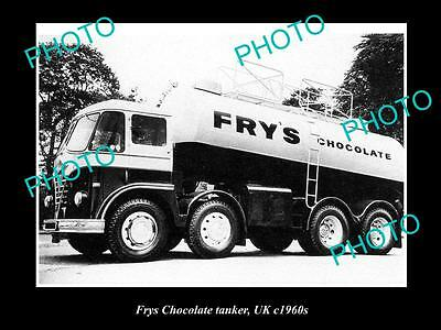OLD LARGE HISTORIC PHOTO OF BRISTOL ENGLAND, FRYS CHOCOLATE TANKER c1960s