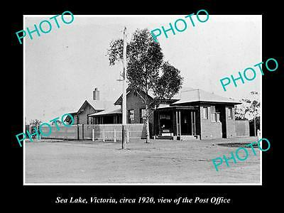 OLD LARGE HISTORIC PHOTO OF  SEA LAKE VICTORIA, VIEW OF THE POST OFFICE c1920