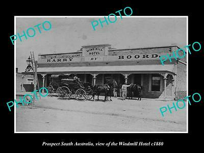 OLD LARGE HISTORIC PHOTO OF PROSPECT SOUTH AUSTRALIA, THE WIND MILL HOTEL c1880