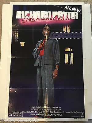 Richard Pryor Here and Now Theater Original Movie Poster One Sheet SS 27x41