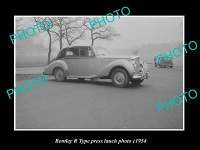 OLD LARGE HISTORIC PHOTO OF BENTLEY R TYPE CAR LAUNCH PRESS PHOTO c1954 1