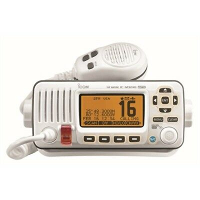ICOM M324G-22 VHF Marine Transceiver W Built In GPS White 25W AIS Target Call MD