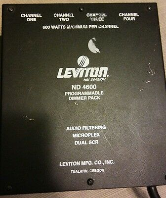 leviton nd 4600 programmable dimmer pack