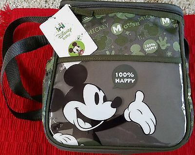 Disney Baby Mickey Mouse Grey Diaper Bag / Tote Bag / Purse New