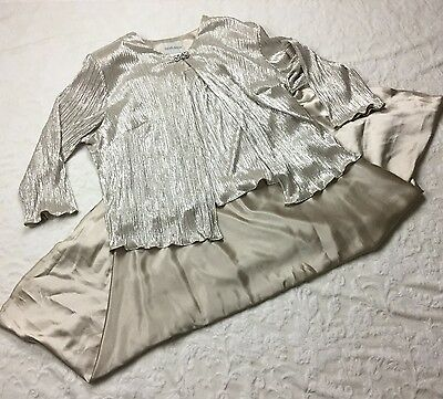 Davids Bridal Mother Of The Bride Dress Gown 2 Piece Champagne Plus 24W