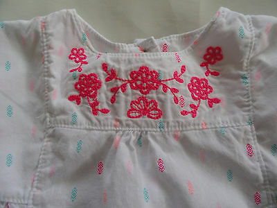 Baby Girl's Carter's Cotton Sleeveless White Top Size 6M 6 Months