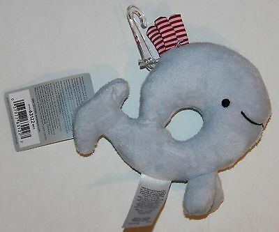 Carter's Soft Plush Rattle Toy Blue Whale Stuffed Animal Shower Gift Baby Boy