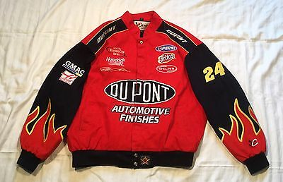 Vintage Jeff Gordon DuPont CHASE AUTHENTICS  Jeff Hamilton Nascar Jacket Size XL
