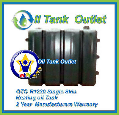 OTO Domestic Heating Oil Storage Tank  ~ R1230ltrs  Single Skin