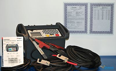 Megger DLRO200 Micro-Ohmmeter, Includes HD leads/bag/hard case, NIST Calibrated