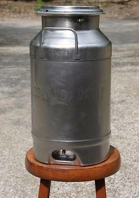 Vintage Stainless Steel Milk Can 20 Qt Superior St Paul ~A Woodland Dairy ~Farm