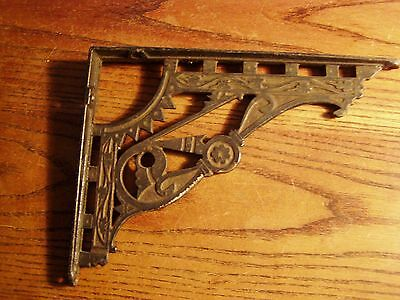 Ornate Antique  Charming Victorian Cast Iron Architectural Shelf Bracket REAL