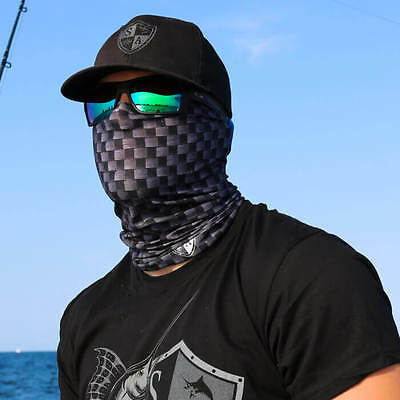 Salt Armor SA Fishing Multi-use tubular face shields, fast ship - CARBON FIBER
