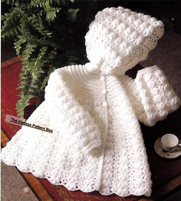 BABY HOODED JACKET / 4ply - 3 to 12 months .- COPY baby crochet pattern