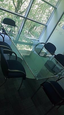 large glass meeting table 100 X 200cm