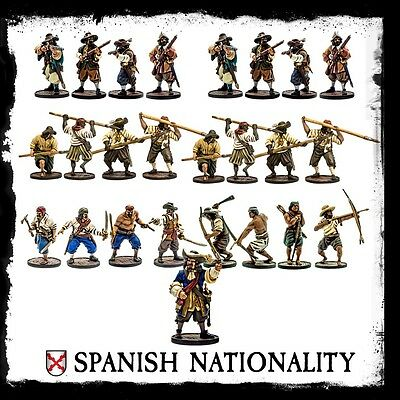 Blood and Plunder Starter Set for the Spanish 25 Miniatures