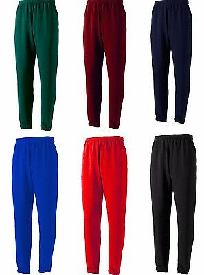 Kids Boys P.E Fleece Lined School Uniform Jogging Bottom Tracksuit Trousers Pant