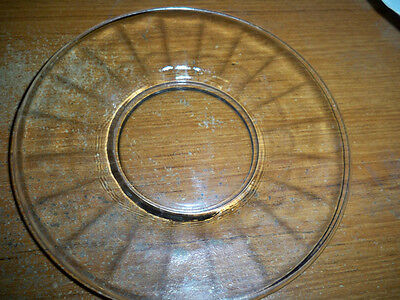 """Anchor Hocking Block Optic Clear Glass 6"""" Bread Plates -1929-1933"""