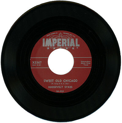"""ROOSEVELT SYKES  """"SWEET OLD CHICAGO c/w HUSH OH HUSH"""" CLASSIC BLUES"""