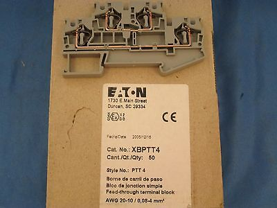 Eaton XBPTT4 Fuse Holder Terminal Block Qty 50 new