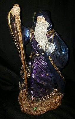 Windstone Editions Large Wizard Peacock Color M Pena 1986 13 Inches Tall GIANT