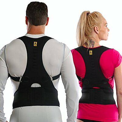 Posture Corrector Clavicle Rounded Shoulders Neck Lower Back Spine Support Brace