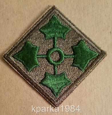 Ww2 Era Us Army Fourth (4Th) Infantry Division Patch