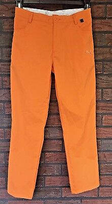 Puma Cell Golf Pants Neon Vibrant Orange Youth Large Rickie Fowler Bright Coral