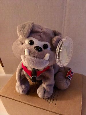 Coca Cola Plush International Beanie Collection 1999 MWMT Dover Bull Dog England